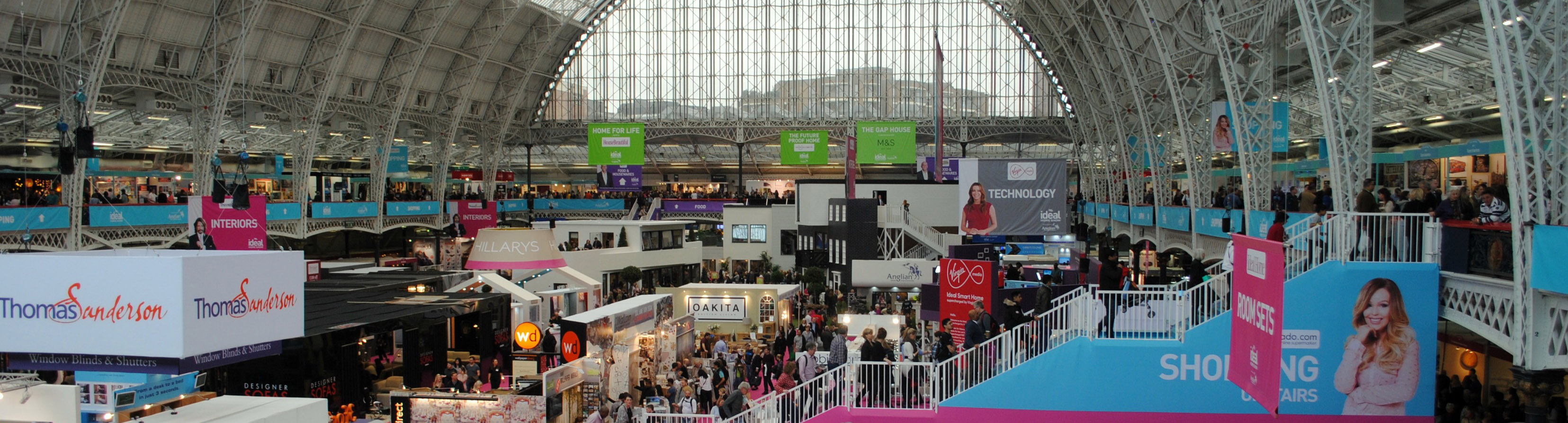AV and LED Screens Hire for Ideal Home Show Christmas, Olympia, London