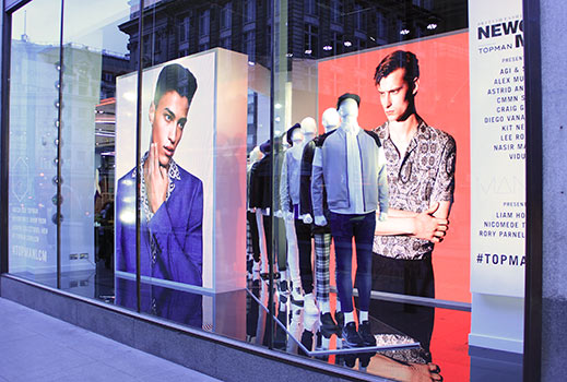 Topshop - Oxford Street Window LED Screen